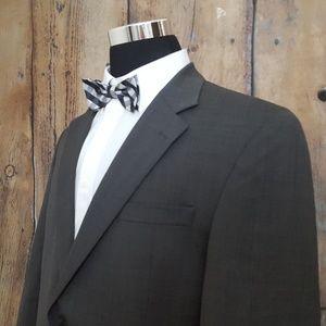 Jos A Bank Sport Coat Mens 42L Wool Gray 2 Button